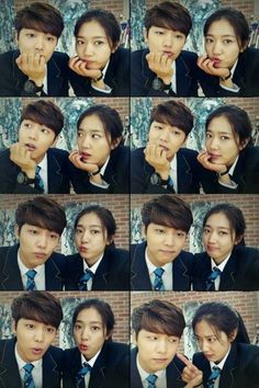 """""""Whether it's because people look alike... if they love each other, childhood friends Eun Sang and Chan Young look good together. Eun Sang, never admit defeat. To the heirs! Everyone, I will make sure to check whether you watch the seventh and eighth episodes of 'Heirs'."""" ' Minhyuk CNBlue"""