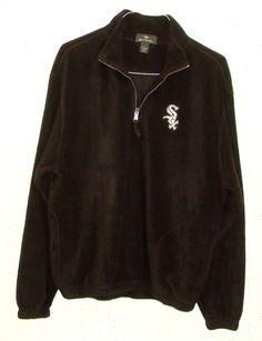 Antigua Mens Chicago White Sox Fleece Long Sleeve 1/4 Zip Pullover Sweatshirt M #Antigua #14ZipPullover
