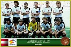 Austria team group at the 1982 World Cup Finals.