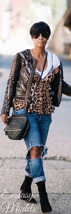 LEOPARD & SEQUINS // Fashion Look by Kyrzayda