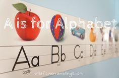 Alphabet learning ideas