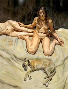 Pluto and the Bateman Sisters - Lucian Freud, 1996