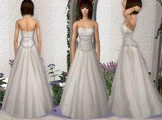 "Mod The Sims - ""Rose"" Wedding Dress"