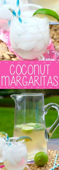 This Coconut Margarita is the BEES KNEES!  Not at all hard to make a whole pitcher of and will delight your guests!
