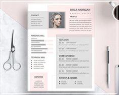 Resume Template Pink Pink CV Template Artistic Resume Template Resume Skilled Template Design Prompt Obtain CV Template Phrase Template Resume Design Template, Creative Resume Templates, Template Cv, Creative Brief Template, Portfolio Design, Portfolio Web, Fashion Portfolio, Conception Cv, Word Cv