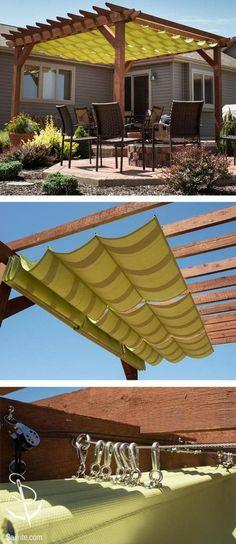 26 Ideas For Pergola Modernas Piscina Diy Pergola, Deck With Pergola, Cheap Pergola, Pergola Kits, Pergola Ideas, Patio Ideas, Pergola Roof, Wood Deck Designs, Pergola Designs