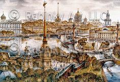 Map Illustration of St. Petersburg