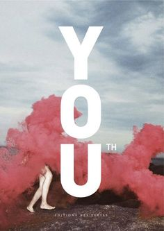 Strong typo on pale photo book cover (Cover Magazine / Book Youth) — Designspiration