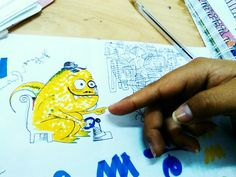 Mr.Trans De la mano de la creadora #iguana #amarrillo #personalidad #caricatura #elegancia