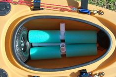 DIY Bulletproof Kayak Cart - Build Instructions + Pics allows you to build a lightweight cart that can be packed up inside your kayak's cargo hold. Kayak Fishing Tips, Kayaking Tips, Kayak Camping, Bass Fishing, Camping List, Camping Hacks, Kayaking Outfit, Camping Store, Fishing Stuff