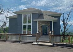 All About the View is a 4 bedroom chalet with amazing views of the Smokies Gatlinburg Vacation Rentals, Gatlinburg Cabins, Huge Windows, Great View, Cool Kitchens, Ideal Home, Outdoor Decor, Bedroom, Amazing