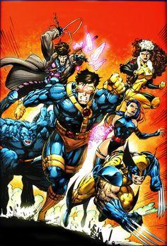 Blue Team: Gambit, Rogue, Psylocke, Wolverine, Cyclops, and Beast - X-Men Annual 1 (1992)