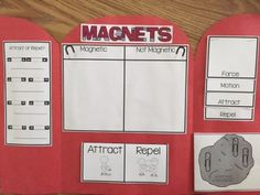Magnet Lapbook!  Great addition to your magnet unit.  Uses attract, repel, force, motion, Lodestone and more!