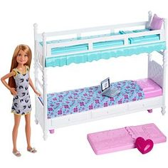 dream pop Check out the Barbie Sisters Bunk Beds & Stacie Doll at the official Barbie website. Explore the world of Barbie now! Barbie Doll Set, Doll Clothes Barbie, Barbie Doll House, Barbie Dream House, Barbie Barbie, Barbies Dolls, Barbie Stuff, Bunk Beds Uk, Doll Bunk Beds