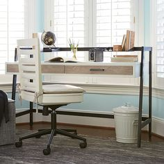 Rosenberry Rooms has everything imaginable for your child's room! Share the news and get $20 Off  your purchase! (*Minimum purchase required.) Levi Off White Desk