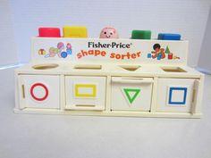 Fisher Price Shape Sorter Toy Vintage 1974 Complete Blocks #FisherPrice