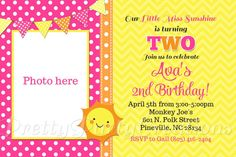 LITTLE MISS SUNSHINE invitation  You Print by PrettyPartyCreations, $11.50