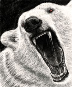 Startling Digital Illustrations of Fierce Snarling Animals - My Modern Metropolis