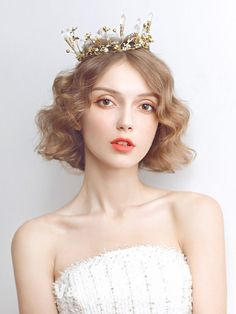 The Most Gorgeous Short Wedding Hairstyles Bridal Makeup, Bridal Hair, Beauty Photography, Portrait Photography, Hd Make Up, Cover Wattpad, Model Face, Portrait Inspiration, Girl Face