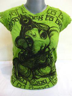 Sure Design Womens Baby Ganesh T-Shirt Lime