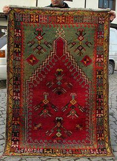 Anatolia Turkish Rug 39 x 57 Antique Hand Woven Mucur Carpet circa 1900 RARE  eBay