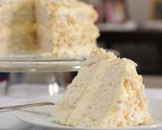 This lemon cream cake, fit for a fancy party or just a weekend treat, is as delicious as it is pretty.