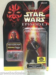 (TAS008156) - Hasbro Star War Episode 1 CommTech Chip Action Figure - Darth Maul