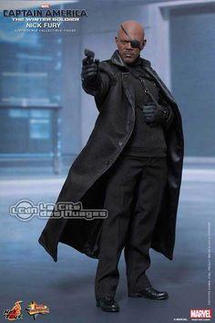 Hot Toys MMS315 Captain America Le Soldat de l'Hiver Nick Fury Samuel L. Jackson 12 30cm
