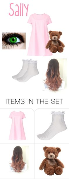 """Sally Williams Creepypasta"" by marcykxx ❤ liked on Polyvore featuring art"