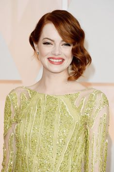 Emma Stone at the 2015 Oscars.