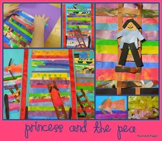 fun idea for painted paper FROM Painted Paper: Princess and the Pea Projects For Kids, Art Projects, Crafts For Kids, Art Crafts, Fairy Tale Theme, Fairy Tales, Princess Theme, Real Princess, Princess And The Pea