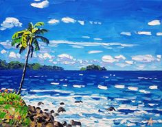 Palette Knife Beach Painting by Ryan Kimba 20 Seascape