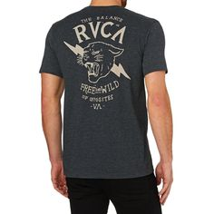 RVCA T-shirts - RVCA Free And Wild T-Shirt - Charcoal Heather