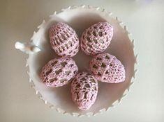 Easter egg decor  crochet eggs  Easter ornaments  paper