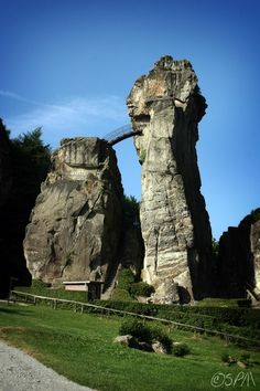Externsteine, a site consisting of five enormous rock pillars in northern Germany, has probably been regarded as sacred since prehistoric times.