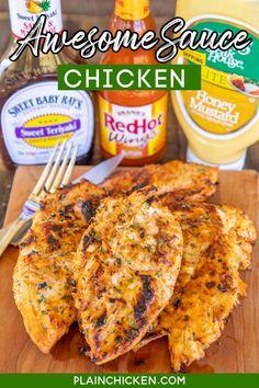 Turkey Recipes, New Recipes, Favorite Recipes, Healthy Recipes, Chicken Sauce Recipes, Chicken Marinades, Sweet Sauce, Hot Sauce, Chicken