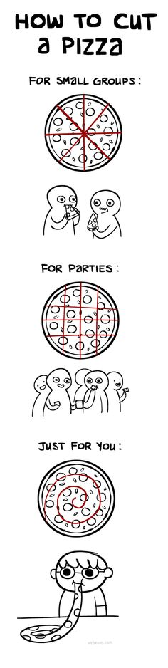 All the possibilities for pizza parties!