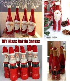 DIY Bottle FAI DA TE Bottiglie con Babbo Natale