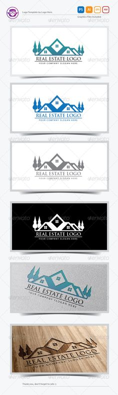 Real Estate Logo Template is An excellent logo template highly suitable for Real Estate logo company, residence, house, building,