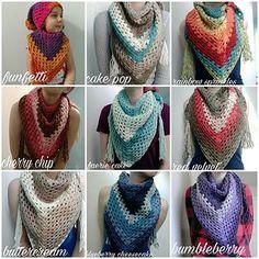 Beginning Crochet Crochet granny triangle scarf - Crochet Triangle Scarf, Crochet Granny, Diy Crochet, Triangle Pattern, Ravelry Crochet, Crochet Shawls And Wraps, Crochet Scarves, Crochet Clothes, Caron Cake Crochet Patterns