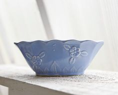 Vintage Periwinkle Blue Planter, Planting Dish, Vintage Pottery, USA Pottery on Etsy, $16.00