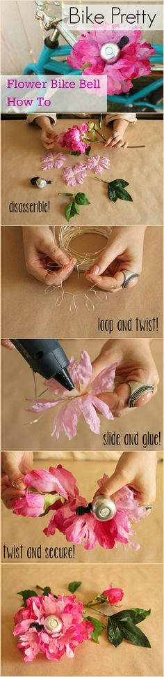 DIY Flower Bike Bell: How to make this gorgeous cycle chic accessory