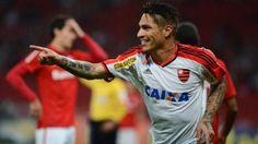 Paolo Guerrero jugará su segundo partido con Flamengo en la Copa de Brasil. July 14, 2015.