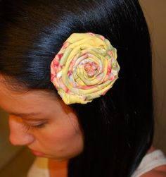 The Kurtz Corner: fabric flower head band...no tutorial