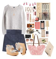 """""""Chillin' One May Morning"""" by paperdollsq ❤ liked on Polyvore featuring Shabby Chic, Burberry, MTWTFSS Weekday, Estée Lauder, L'Oréal Paris, Via Spiga, LØMO, Sun N' Sand, Astley Clarke and Sisley"""
