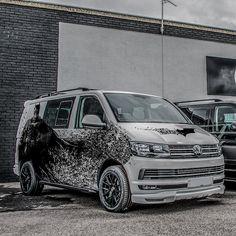 #Volkswagen Transporter T6 Kombi - If #batman owned a van #DC.