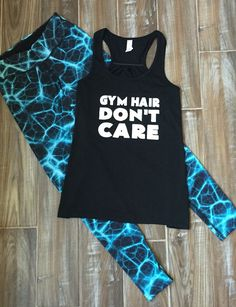Funny Workout Shirt & Cute Leggings Outfit - Workout Outfit - Fitness Leggings