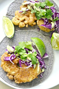 Beer-Battered Baja Cauliflower Tacos (gfdfsf)
