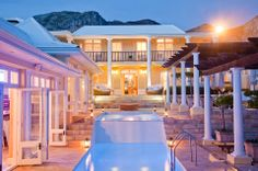 Birkenhead House is a seaside luxury boutique hotel in Hermanus, South Africa. Birkenhead House offers great food and wine, stylish suites, a pool, spa and gym. Hyde Park, Golf Hotel, Seaside Towns, Beautiful Hotels, Africa Travel, South Africa, Beach House, Mansions, Architecture