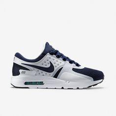 2015 Homme Nike Air Max Zero QS Chaussures de Course Blanche/Hyperose/Metallic Grise